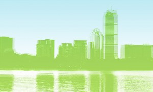 Boston Cityscape – Image courtesy of Global Cleantech Meetup / Slowey/McManus Communications